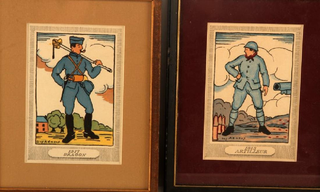 GUY ARNOUX FRENCH MILITARY PRINT LOT OF 5 - 3