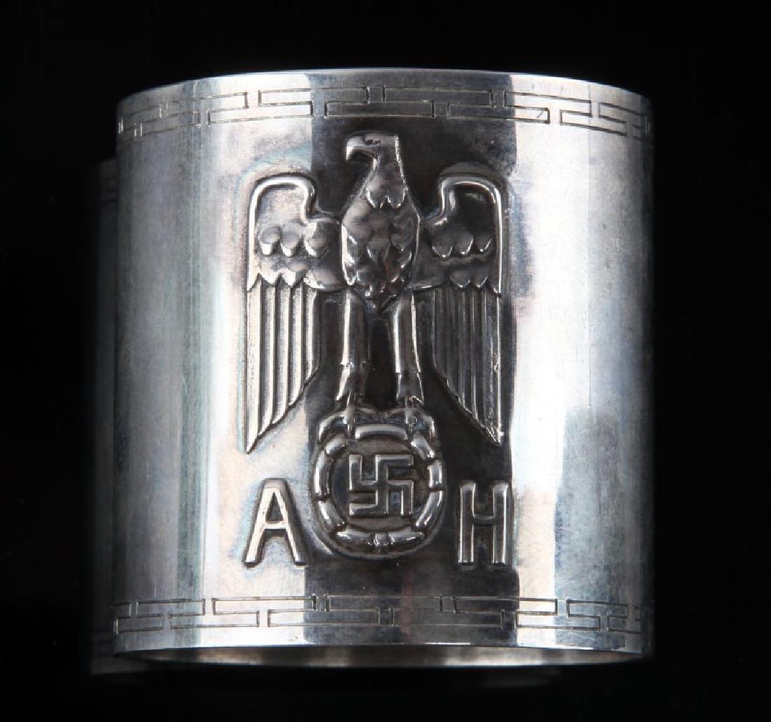 WWII GERMAN THIRD REICH SILVER HITLER NAPKIN RING