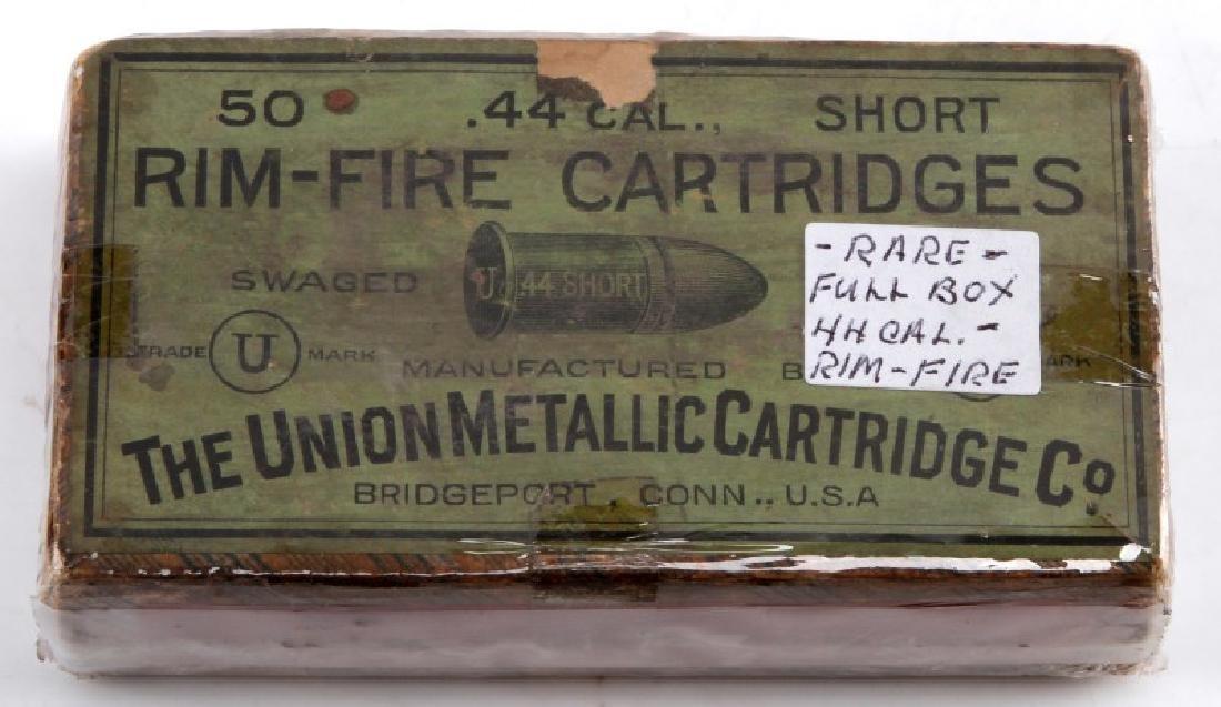 RARE BOX  50 RIM FIRE UMC 44 CAL SHORT CARTRIDGES