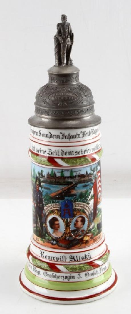 IMPERIAL REGIMENTAL BEER STEIN RESERVIST ALISKY