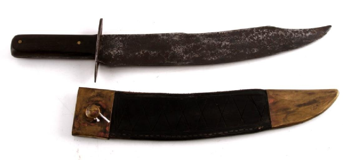 ANTIQUE SHEATHED CIVIL WAR  AMERICAN BOWIE KNIFE