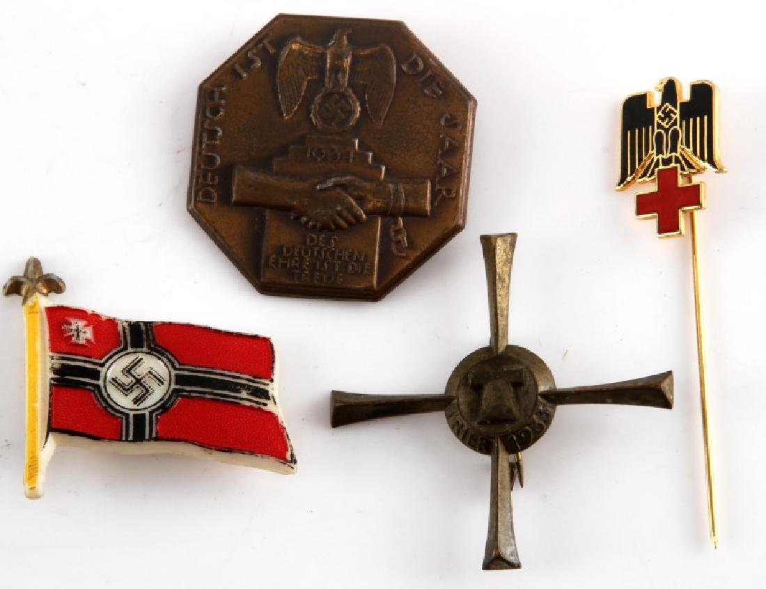 LOT OF 4 WWII GERMAN THIRD REICH NSDAP PINS