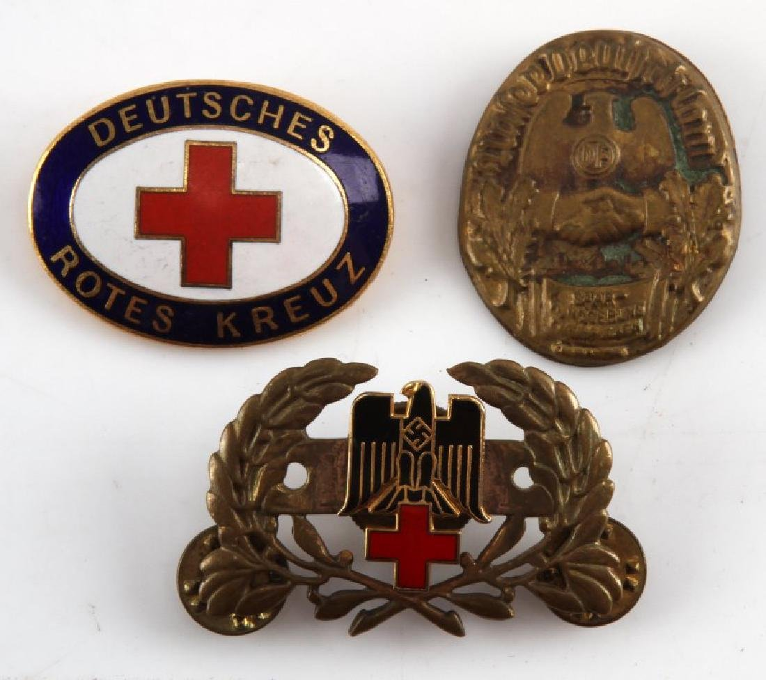 LOT OF 3 RARE WWII THIRD REICH GERMAN NSDAP PINS