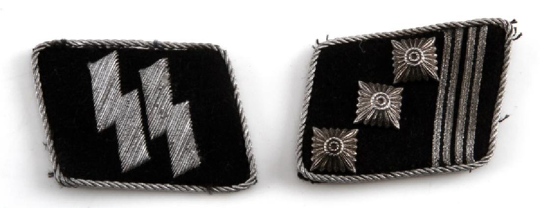 WWII GERMAN THIRD WAFFEN SS OFFICER COLLAR TAB LOT