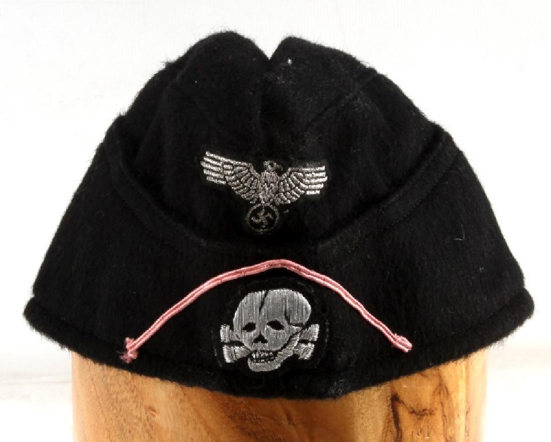 WWII GERMAN THIRD REICH NSDAP PANZER DIV BLACK CAP