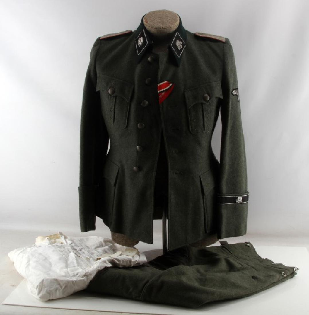 WWII GERMAN THIRD REICH SS PANZER OFFICER UNIFORM