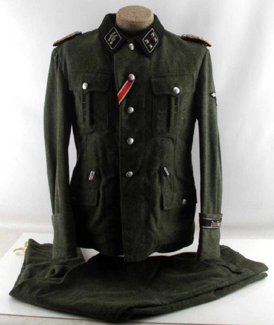 WWII GERMAN THIRD REICH WAFFEN SS OFFICER UNIFORM