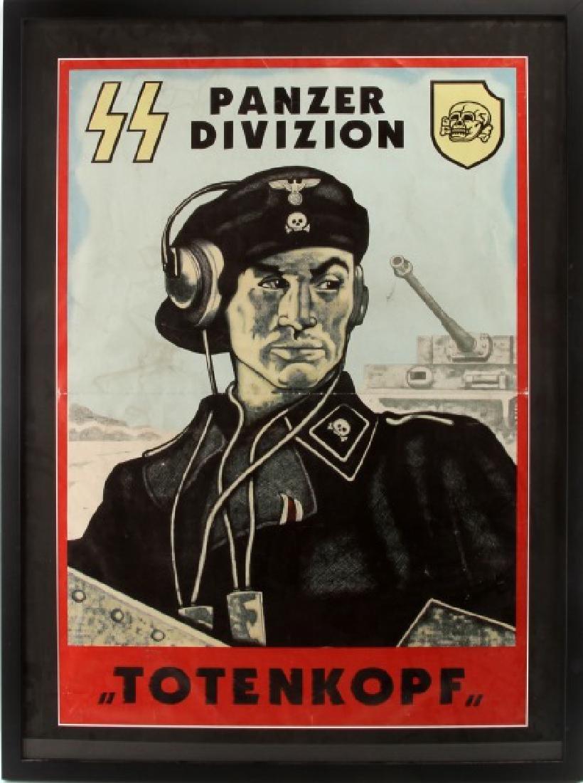 WWII GERMAN 3RD SS PANZER DIV. PROPAGANDA POSTER