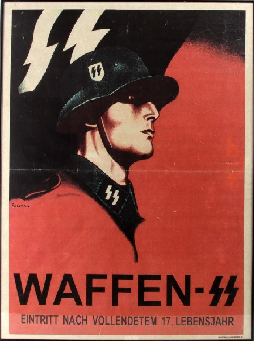 GERMAN THIRD REICH WWII WAFFEN SS SOLDIER POSTER