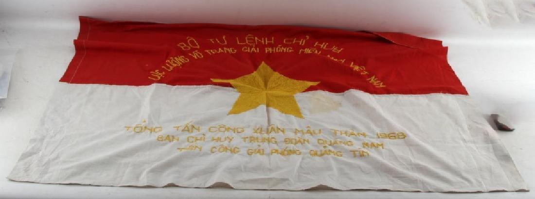 RARE VIETNAM VETERAN BRING BACK NVA COMMAND FLAG