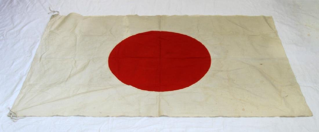RARE JAPANESE IMPERIAL WWII COTTON MEATBALL FLAG