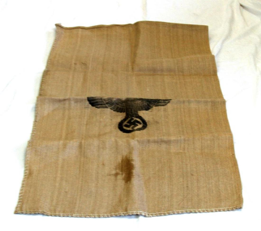 WWII THIRD REICH WAFFEN SS BURLAP RATION BAG 1944