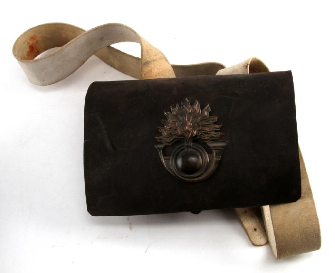 FRENCH NAPOLEON WAR CRIMEA PERIOD AMMO POUCH