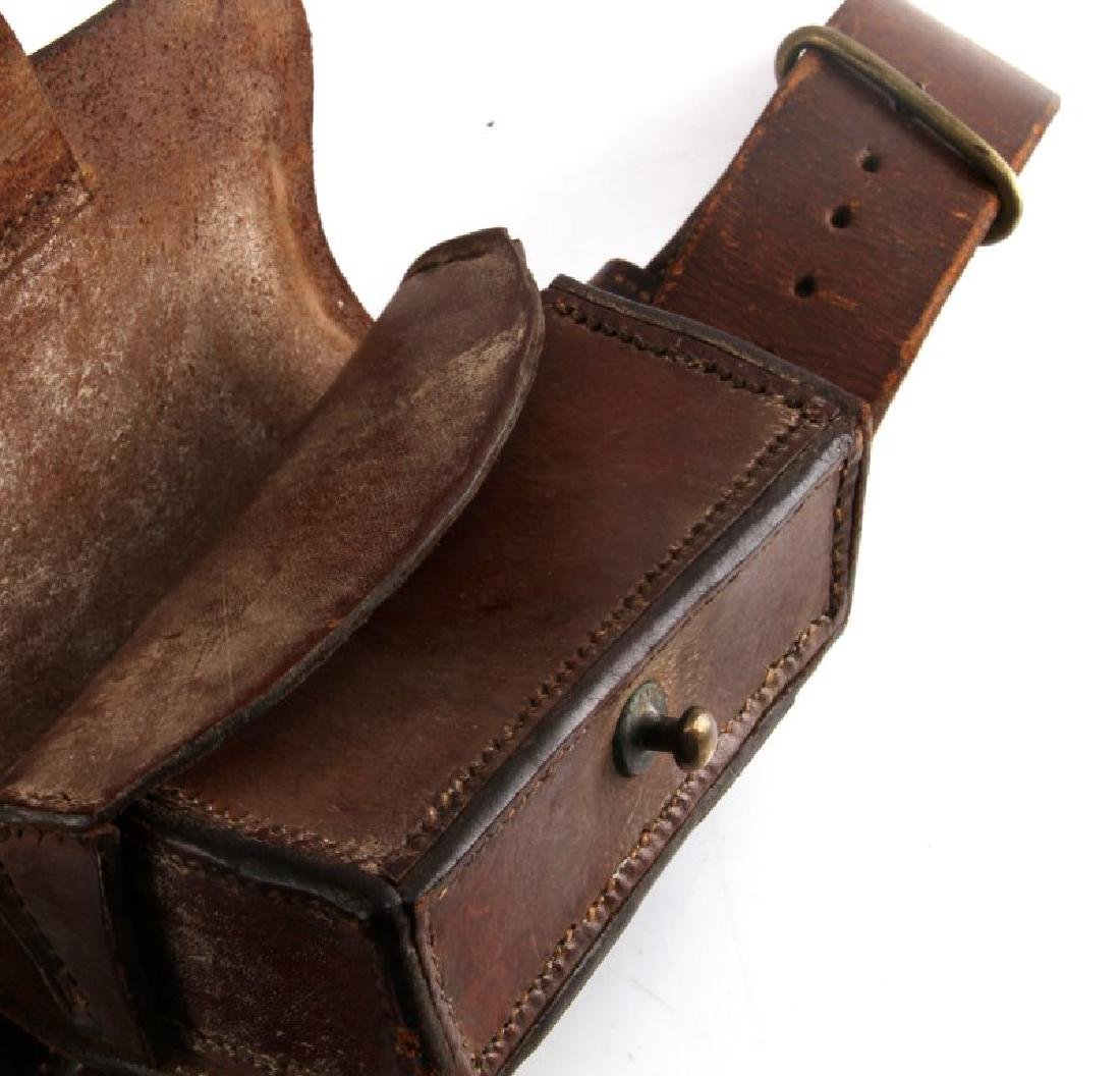 SPANISH AMERICAN WAR LEATHER AMMO POUCH AND BELT