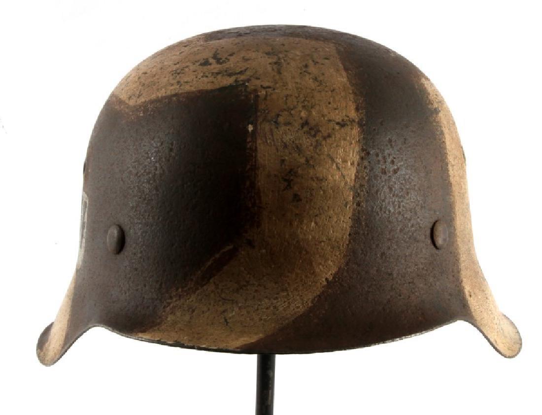 WWII GERMAN 3RD REICH WAFFEN SS M42 COMBAT HELMET