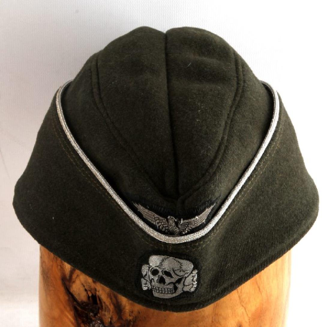 GERMAN WWII WAFFEN SS OFFICER OVERSEAS CAP