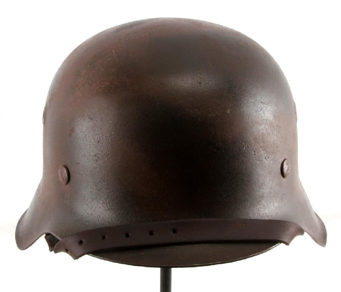 PAINTED GERMAN WWII M1935 HELMET W LINER AND STRAP