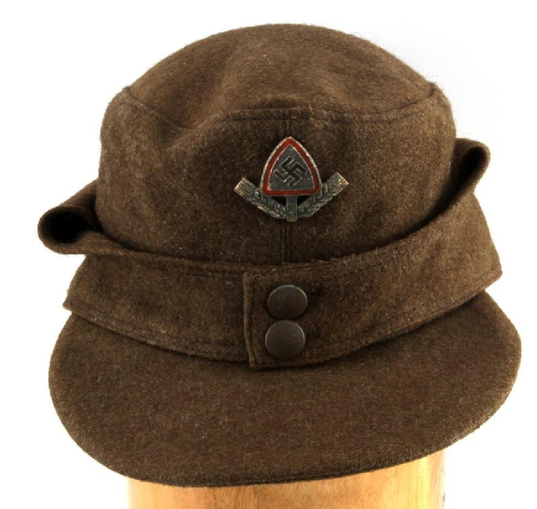 WWII GERMAN THIRD REICH RAD M43 FIELD CAP