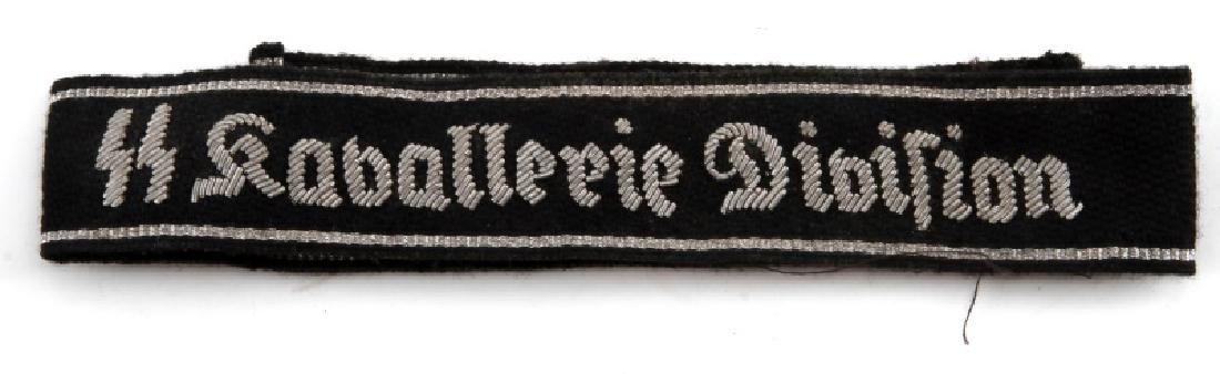 WWII GERMAN WAFFEN SS DIV KAVALLERIE CUFF TITLE