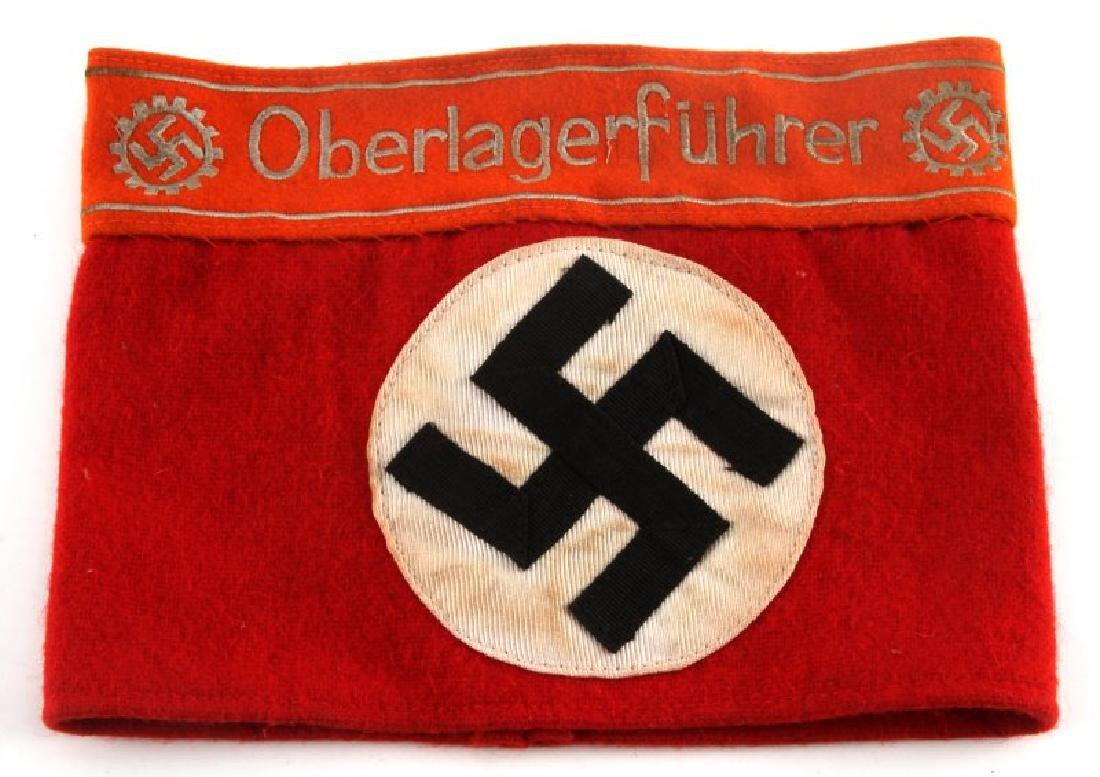 WWII GERMAN NSDAP DAF OBERLAGERFUHRER ARMBAND