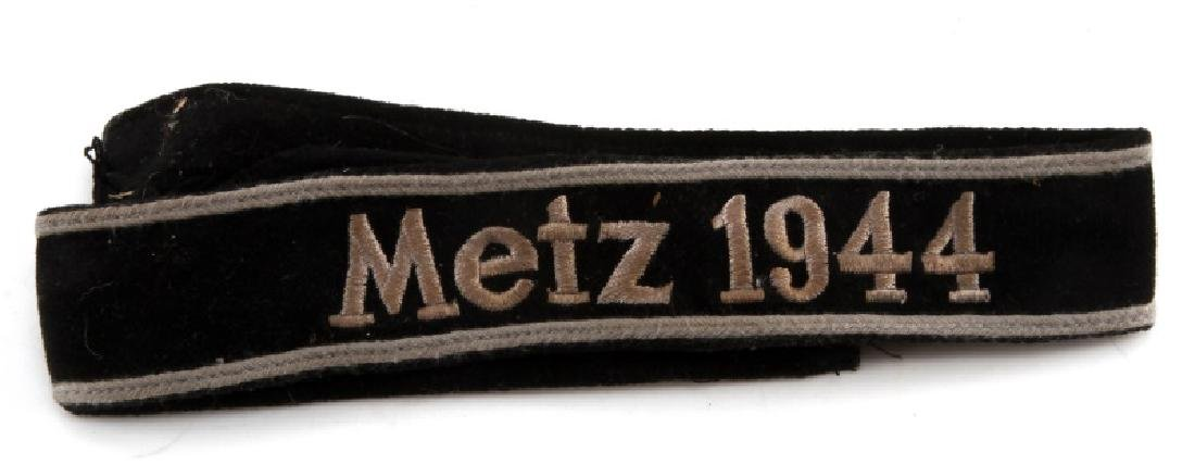 WWII GERMAN THIRD REICH METZ 1944 SEWN CUFF TITLE