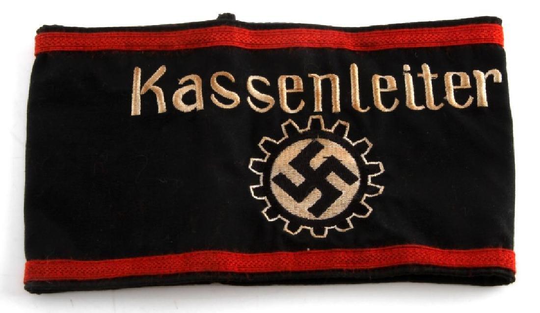 WWII GERMAN REICH NSDAP DAF KASSENLEITER ARMBAND
