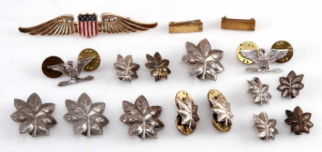 SETS OF RANK PINS NAVY & MARINE & SWEETHEART WINGS
