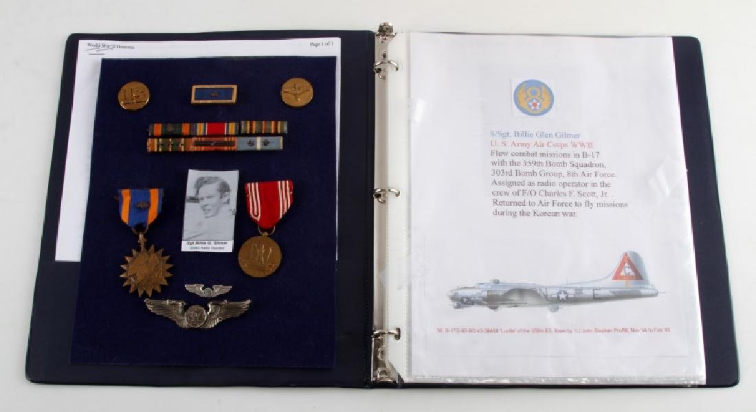 NAMED AAF MEDALS & HISTORY SQ 303RD BOMB 8TH WWII