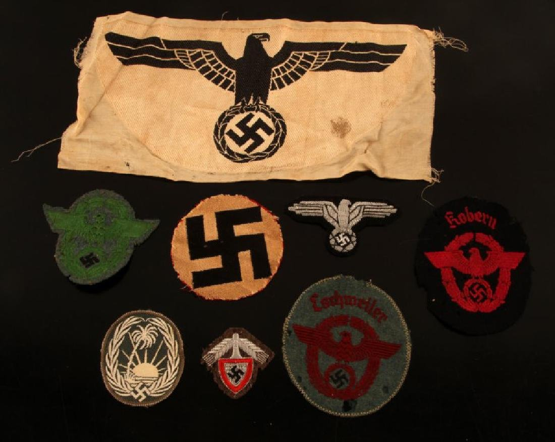 WWII GERMAN THIRD REICH MISC PATCH AND BADGE LOT