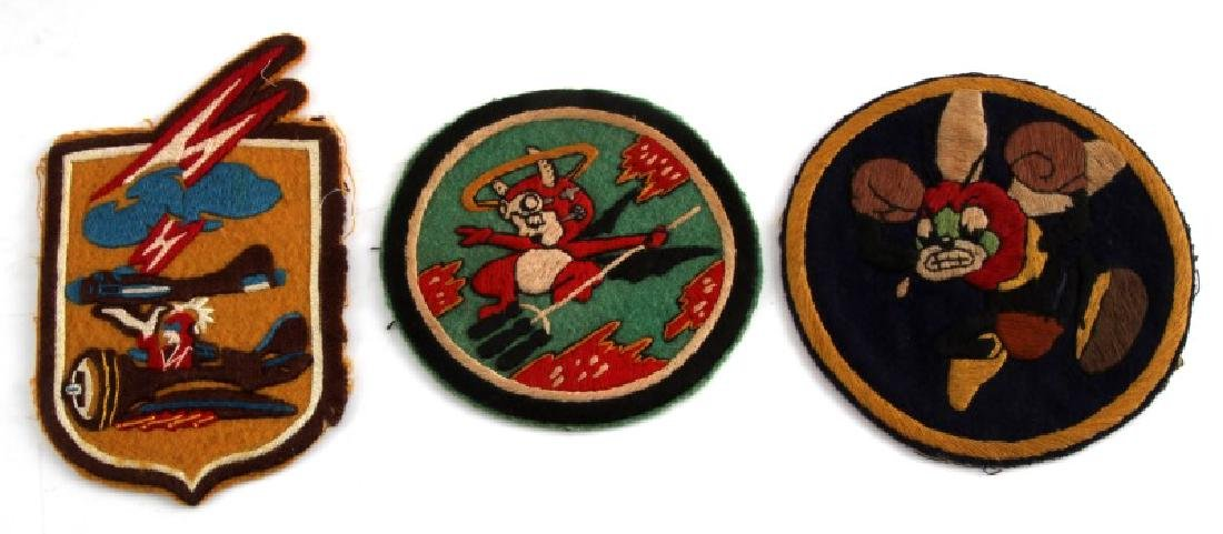 3 WWII BOMBER FIGHTER PATCHES 307TH 601ST 390TH