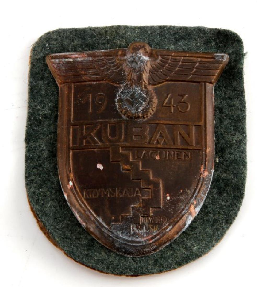 WWII GERMAN THIRD REICH KUBAN SHIELD IN ENVELOPE