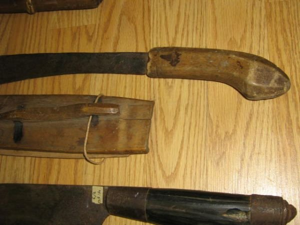 3 WWII BOLO BARONG PHILIPPINES KNIFE MACHETE LOT - 4