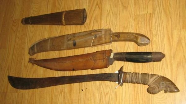 3 WWII BOLO BARONG PHILIPPINES KNIFE MACHETE LOT - 5