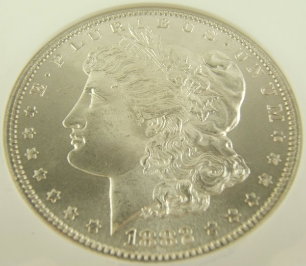 1882-S MORGAN SILVER DOLLAR MS-65 NGC CERTIFIED