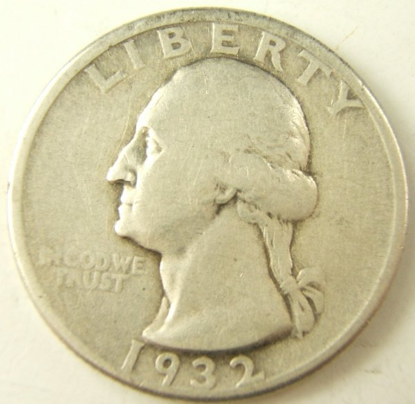 1932-D WASHINGTON QUARTER VF KEY DATE