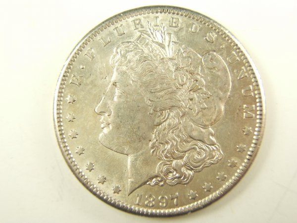 1897-S MORGAN SILVER DOLLAR VAM-4 R-4 MS62+