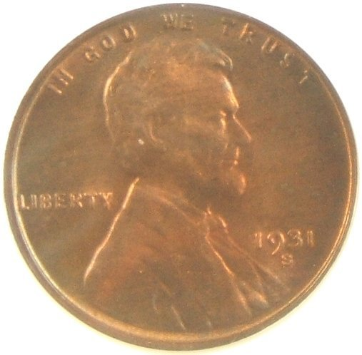 1931-S LINCOLN CENT MS66 RB NGC CERTIFIED KEY DATE
