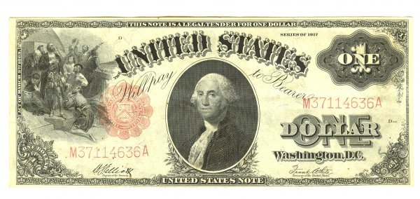 1917 LARGE LEGAL TENDER NOTE FR36 UNC RED SEAL