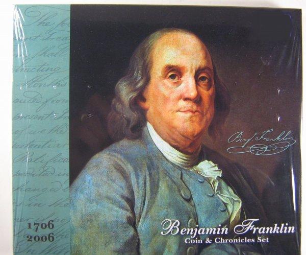 BENJAMIN FRANKLIN COIN & CHRONICLES SET SEALED