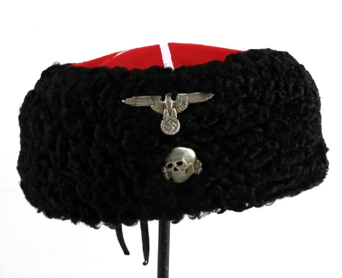 dc0186c49 GERMAN WWII WAFFEN SS RUSSIAN COSSACK PAPAKHA HAT