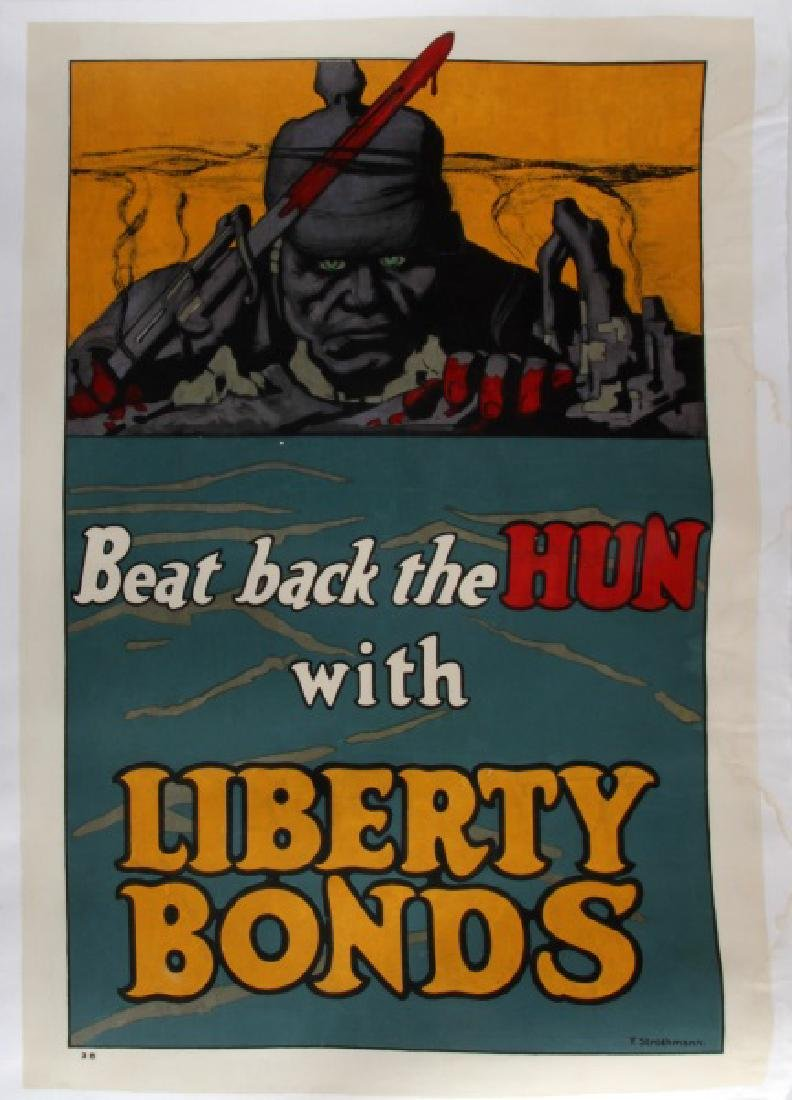 WWI WAR BOND POSTER ART BY FREDERICK STROTHMANN