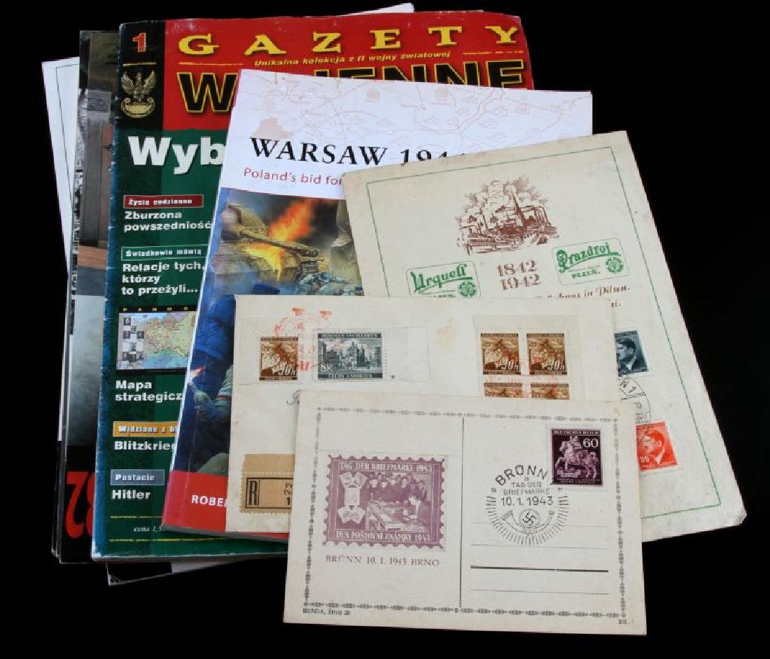 LOT OF 8 WWII GERMAN NSDAP PHOTO BOOK & POSTCARDS