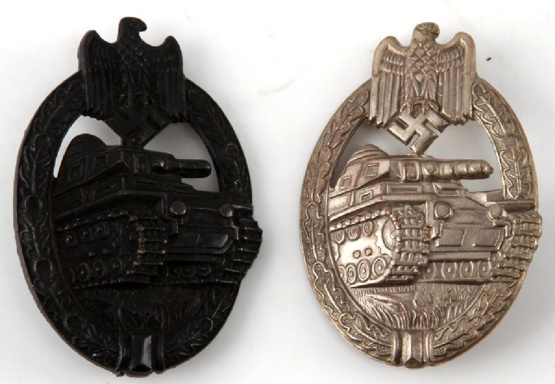 GERMAN WWII PANZER ASSAULT BADGE SILVER & BRONZE