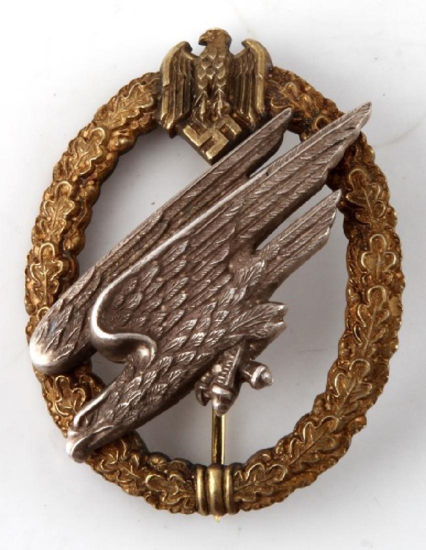 WWII GERMAN 3RD REICH HEER NAMED PARATROOPER BADGE