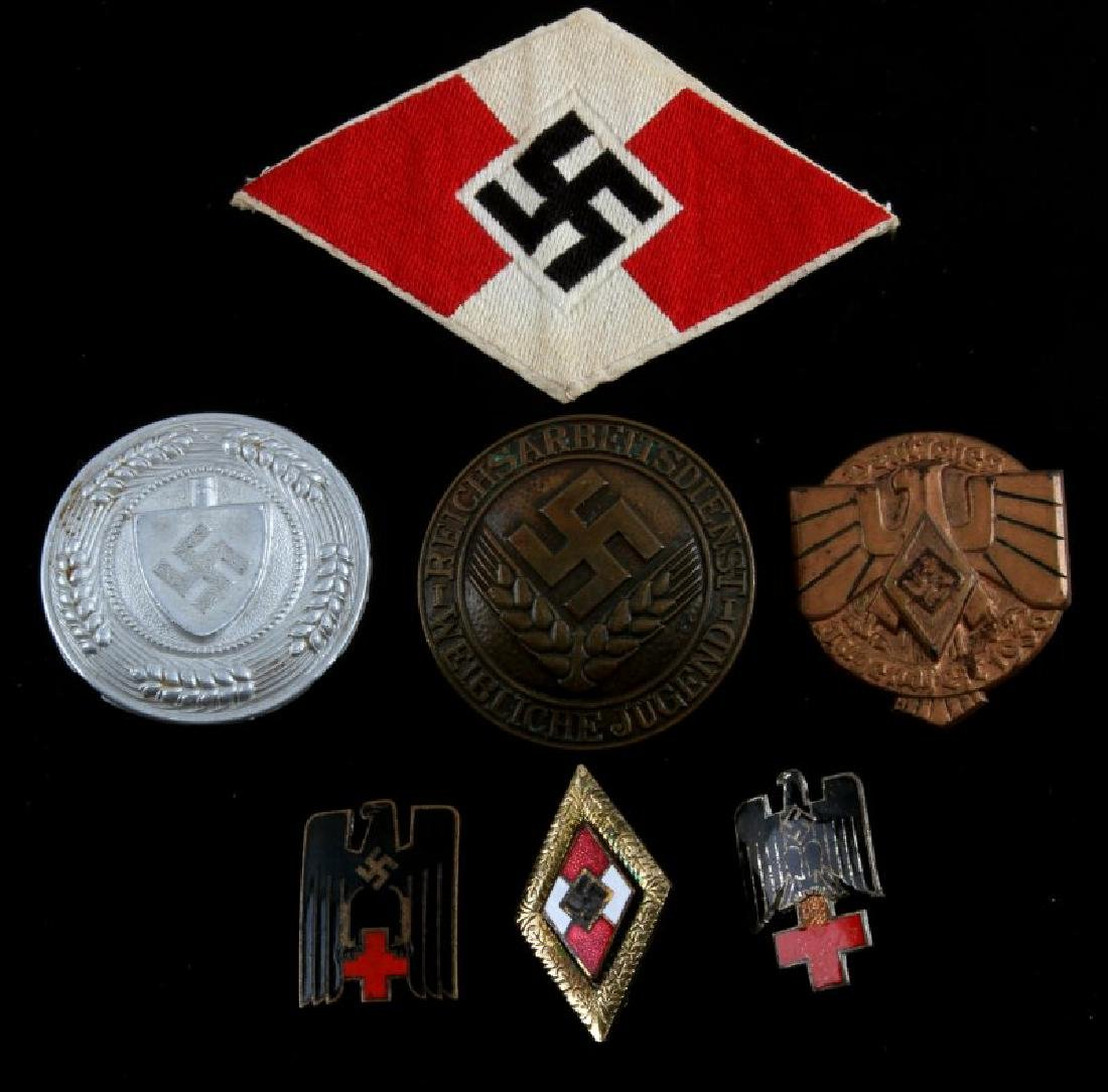 WWII GERMAN 3RD REICH NSDAP ORGANIZATION BADGE LOT