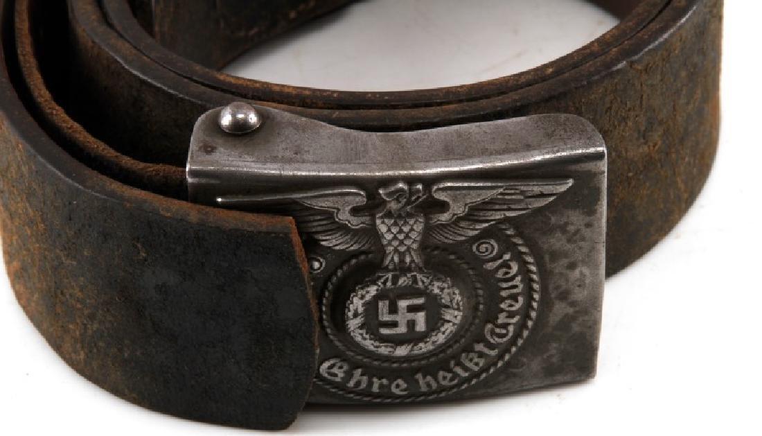 GERMAN THIRD REICH WWII SS BELT & BUCKLE RODO MARK - 2