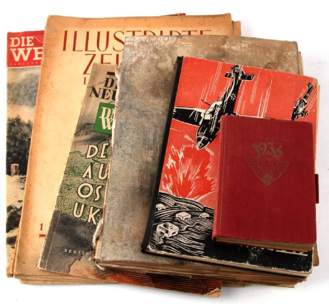 LOT OF 10 WWII NSDAP THIRD REICH EPHEMERA & BOOKS