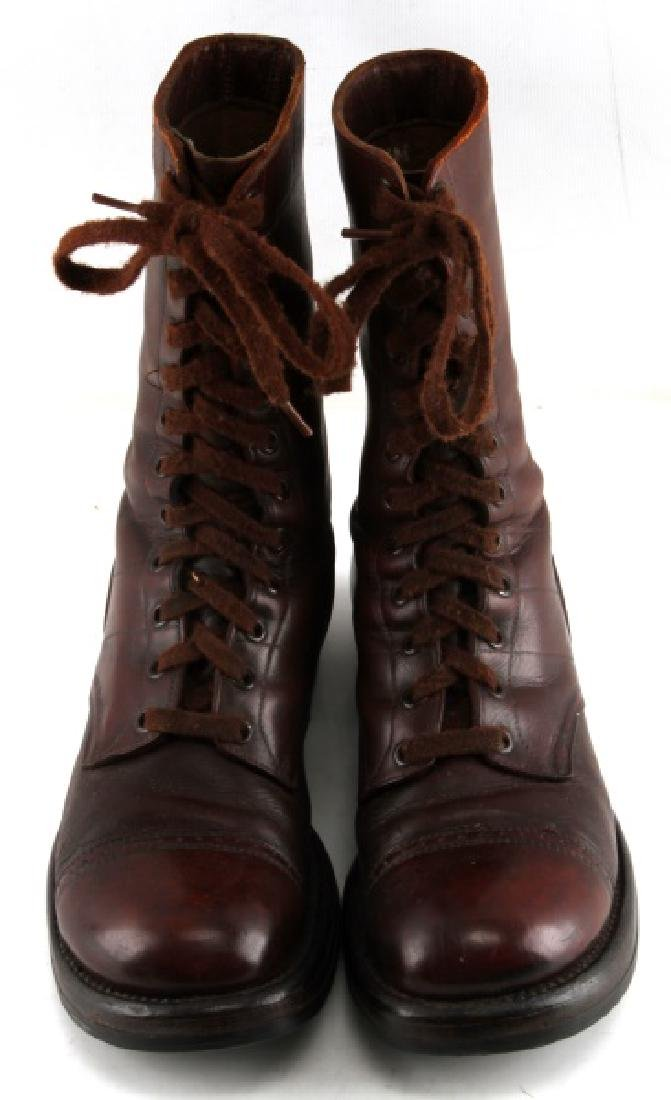 WWII US ARMY PARATROOOPER NAMED LEATHER JUMP BOOTS