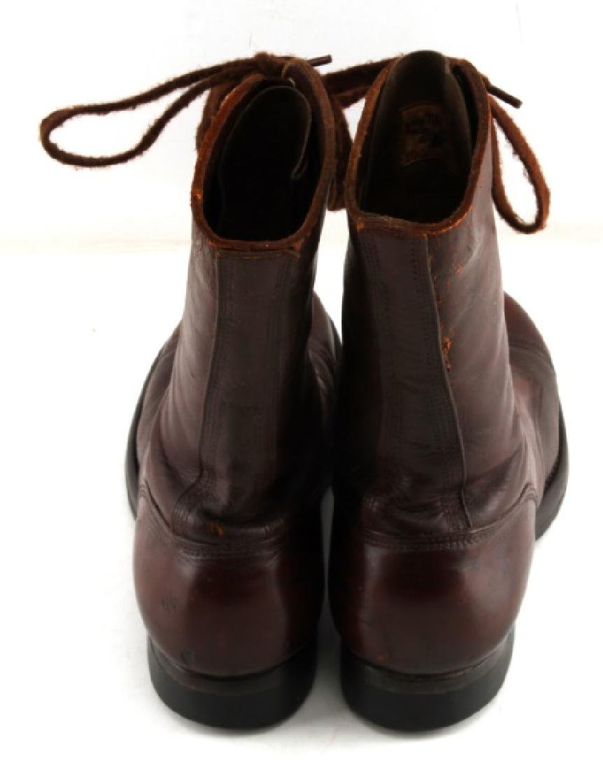 WWII US ARMY PARATROOOPER NAMED LEATHER JUMP BOOTS - 3