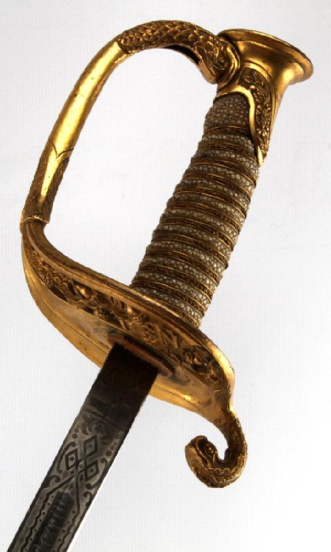 1852 US NAVY OFFICER SWORD AND SCABBARD
